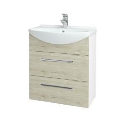 Dreja - Kúpeľňová skriňa TAKE IT SZZ2 65 - N01 Bílá lesk / Úchytka T04 / D20 Galaxy (279387E)
