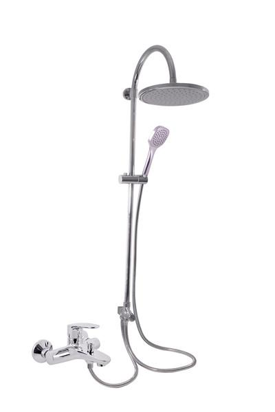 SLEZAK-RAV - Vodovodné batérie vaňová AMUR s hlavovou a ručnou sprchou, Farba: chróm, Rozmer: 150 mm AM754.5 / 3
