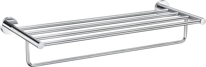 SLEZAK-RAV - Polička na uteráky s hrazdou 640,6 mm, Farba: chróm COA0704