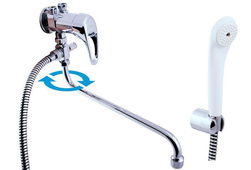 SLEZAK-RAV - Vodovodné batérie pre vaňu a umývadlo pre zásobníkový ohrievač, Farba: chróm, Rozmer: pripojenie na flexi hadice E056 / 1Z