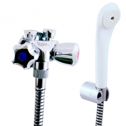 SLEZAK-RAV - Vodovodní baterie sprchová pro nízkotlaké ohřívače, Barva: chrom, Rozměr: připojení na trubičky (EN080.1/1)