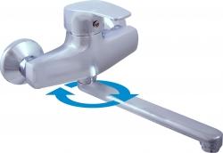 SLEZAK-RAV - Vodovodní baterie dřezová/umyvadlová KONGO , Barva: chrom, Rozměr: 150 mm (K001.5/23)