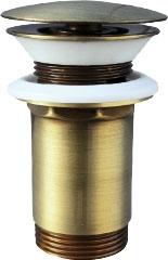 SLEZAK-RAV - Výpusť umyvadlová CLICK-CLAK 5/4 - stará mosaz, Barva: stará mosaz (MD0484SM)