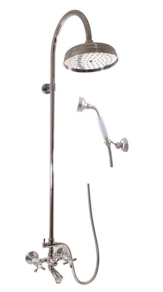 SLEZAK-RAV - Vodovodné batérie vaňová MORAVA s hlavovou a ručnou sprchou, Farba: chróm, Rozmer: 100 mm MK154.0 / 3