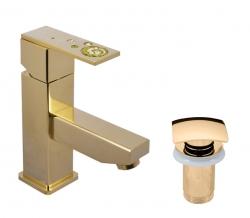 SLEZAK-RAV - Vodovodní baterie umyvadlová , Barva: zlato, Rozměr: 1/2'' (ROYAL1227.5Z)