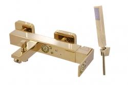 SLEZAK-RAV - Vodovodní baterie vanová , Barva: zlato, Rozměr: 150 mm (ROYAL1254.5Z)