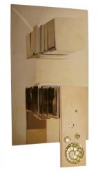 SLEZAK-RAV - Vodovodní baterie sprchová vestavěná s přepínačem , Barva: zlato (ROYAL1286Z)