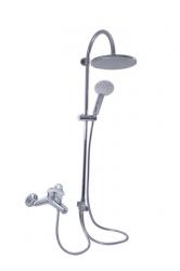SLEZAK-RAV - Vodovodní baterie vanová SÁZAVA s hlavovou a ruční sprchou, Barva: chrom, Rozměr: 100 mm, Typ ručky: SA054.0/3 (SA054.0/3)
