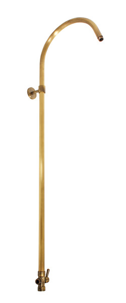 SLEZAK-RAV - Sprchová tyč k bateriím s hlavovou a ruční sprchou s přepínačem STARÁ MOSAZ, Barva: stará mosaz, Rozměr: 1055 mm (SD0654SM)