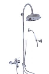 SLEZAK-RAV - Vodovodní baterie vanová LABE s hlavovou a ruční sprchou, Barva: chrom, Rozměr: 150 mm (L554.5/3)