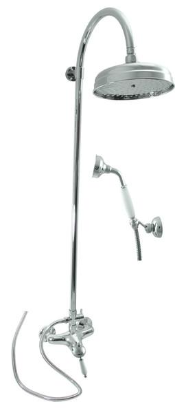 SLEZAK-RAV - Vodovodné batérie sprchová LABE s hlavovou a ručnou sprchou, Farba: chróm, Rozmer: 150 mm L581.5 / 3