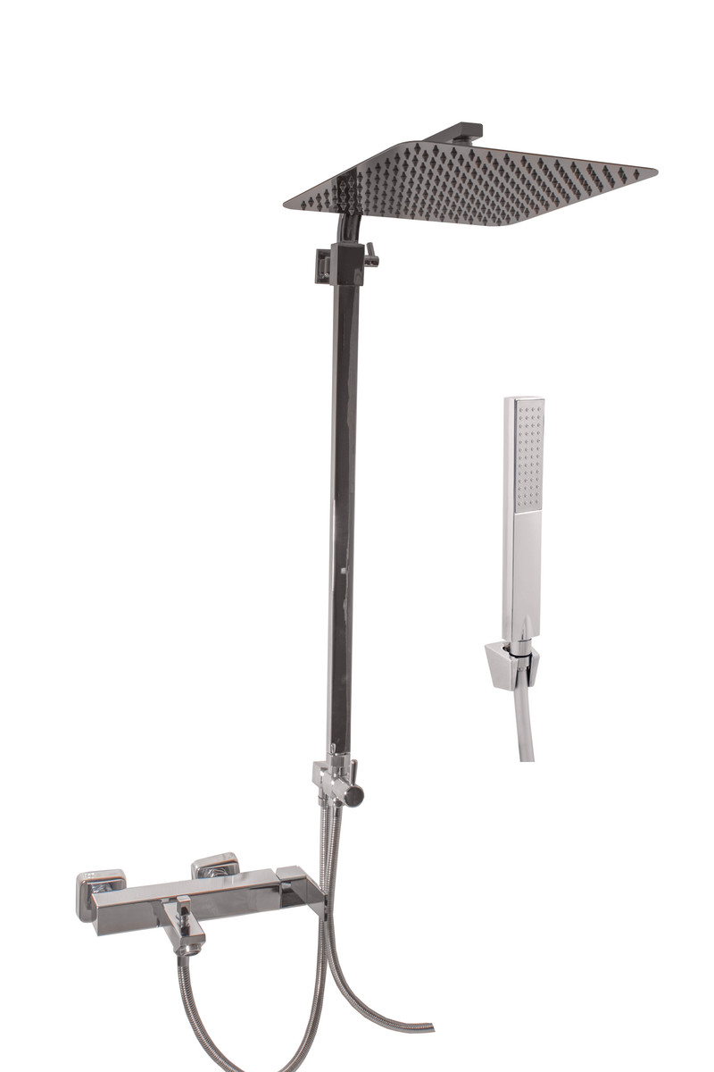 SLEZAK-RAV - Vodovodné batérie vaňová Loire s hlavovou a ručnou sprchou, Farba: chróm, Rozmer: 150 mm LR554.5 / 6