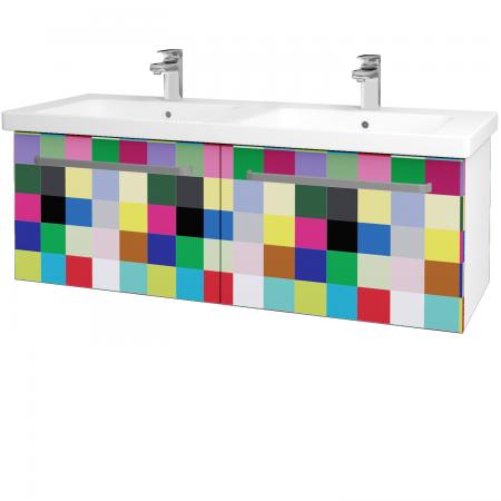 Dreja - Kúpeľňová skriňa BIG INN SZZ2 125 - N01 Bílá lesk / Úchytka T01 / IND Individual (24003A)