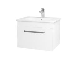 Dreja - Kúpeľňová skriňa ASTON SZZ 60 - N01 Bílá lesk / Úchytka T01 / L01 Bílá vysoký lesk (137496A)