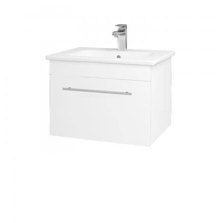 Dreja - Kúpeľňová skriňa ASTON SZZ 60 - N01 Bílá lesk / Úchytka T02 / L01 Bílá vysoký lesk (137496B)