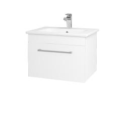 Dreja - Kúpeľňová skriňa ASTON SZZ 60 - N01 Bílá lesk / Úchytka T03 / L01 Bílá vysoký lesk (137496C)