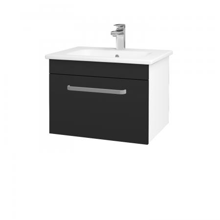 Dreja - Kúpeľňová skriňa ASTON SZZ 60 - N01 Bílá lesk / Úchytka T01 / L03 Antracit vysoký lesk (137489A)