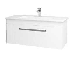 Dreja - Kúpeľňová skriňa ASTON SZZ 100 - N01 Bílá lesk / Úchytka T01 / L01 Bílá vysoký lesk (137557A)