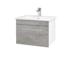 Dreja - Kúpeľňová skriňa ASTON SZZ 60 - N01 Bílá lesk / Úchytka T03 / D01 Beton (130886C)