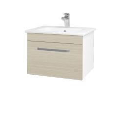 Dreja - Kúpeľňová skriňa ASTON SZZ 60 - N01 Bílá lesk / Úchytka T01 / D04 Dub (130916A)