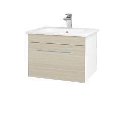 Dreja - Kúpeľňová skriňa ASTON SZZ 60 - N01 Bílá lesk / Úchytka T03 / D04 Dub (130916C)