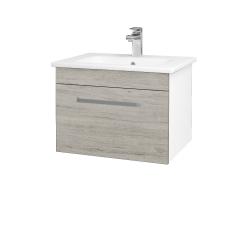 Dreja - Kúpeľňová skriňa ASTON SZZ 60 - N01 Bílá lesk / Úchytka T01 / D05 Oregon (130923A)