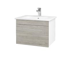 Dreja - Kúpeľňová skriňa ASTON SZZ 60 - N01 Bílá lesk / Úchytka T02 / D05 Oregon (130923B)
