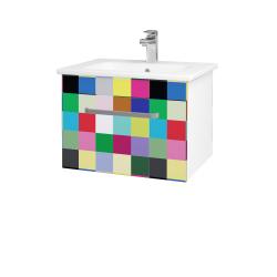 Dreja - Kúpeľňová skriňa ASTON SZZ 60 - N01 Bílá lesk / Úchytka T01 / IND Individual (137458A)