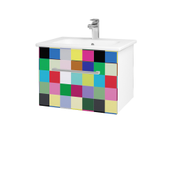 Dreja - Kúpeľňová skriňa ASTON SZZ 60 - N01 Bílá lesk / Úchytka T03 / IND Individual (137458C)