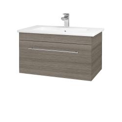 Dreja - Kúpeľňová skriňa ASTON SZZ 80 - D03 Cafe / Úchytka T02 / D03 Cafe (131326B)