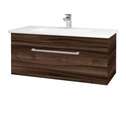 Dreja - Kúpeľňová skriňa ASTON SZZ 100 - D06 Ořech / Úchytka T03 / D06 Ořech (131425C)
