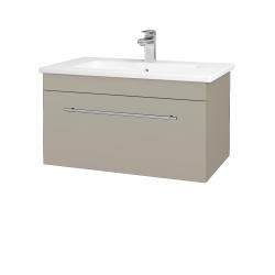 Dreja - Kúpeľňová skriňa ASTON SZZ 80 - L04 Béžová vysoký lesk / Úchytka T02 / L04 Béžová vysoký lesk (109011B)