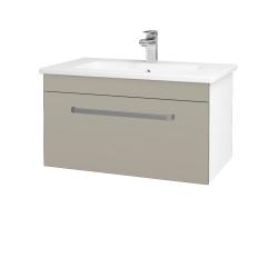 Dreja - Kúpeľňová skriňa ASTON SZZ 80 - N01 Bílá lesk / Úchytka T01 / L04 Béžová vysoký lesk (108861A)