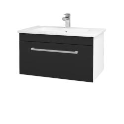 Dreja - Kúpeľňová skriňa ASTON SZZ 80 - N01 Bílá lesk / Úchytka T03 / L03 Antracit vysoký lesk (137519C)