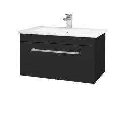 Dreja - Kúpeľňová skriňa ASTON SZZ 80 - L03 Antracit vysoký lesk / Úchytka T03 / L03 Antracit vysoký lesk (144722C)