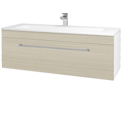 Dreja - Kúpeľňová skriňa ASTON SZZ 120 - N01 Bílá lesk / Úchytka T03 / D04 Dub (131128C)