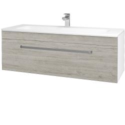 Dreja - Kúpeľňová skriňa ASTON SZZ 120 - N01 Bílá lesk / Úchytka T01 / D05 Oregon (131135A)