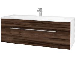 Dreja - Kúpeľňová skriňa ASTON SZZ 120 - N01 Bílá lesk / Úchytka T02 / D06 Ořech (131142B)