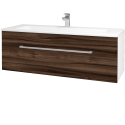 Dreja - Kúpeľňová skriňa ASTON SZZ 120 - N01 Bílá lesk / Úchytka T03 / D06 Ořech (131142C)