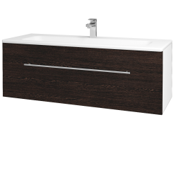 Dreja - Kúpeľňová skriňa ASTON SZZ 120 - N01 Bílá lesk / Úchytka T02 / D08 Wenge (131159B)