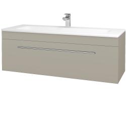 Dreja - Kúpeľňová skriňa ASTON SZZ 120 - L04 Béžová vysoký lesk / Úchytka T02 / L04 Béžová vysoký lesk (109639B)