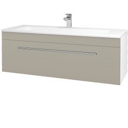 Dreja - Kúpeľňová skriňa ASTON SZZ 120 - N01 Bílá lesk / Úchytka T02 / L04 Béžová vysoký lesk (109486B)