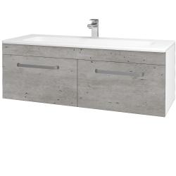 Dreja - Kúpeľňová skriňa ASTON SZZ2 120 - N01 Bílá lesk / Úchytka T01 / D01 Beton (131166A)