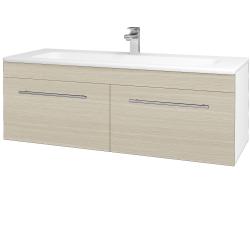 Dreja - Kúpeľňová skriňa ASTON SZZ2 120 - N01 Bílá lesk / Úchytka T02 / D04 Dub (131197B)