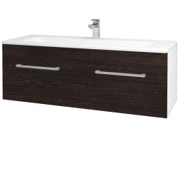 Dreja - Kúpeľňová skriňa ASTON SZZ2 120 - N01 Bílá lesk / Úchytka T03 / D08 Wenge (131227C)