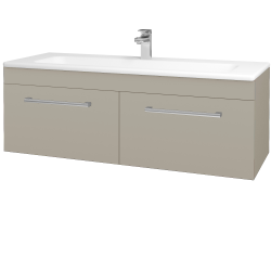Dreja - Kúpeľňová skriňa ASTON SZZ2 120 - L04 Béžová vysoký lesk / Úchytka T03 / L04 Béžová vysoký lesk (146962C)