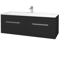Dreja - Kúpeľňová skriňa ASTON SZZ2 120 - L03 Antracit vysoký lesk / Úchytka T01 / L03 Antracit vysoký lesk (146955A)