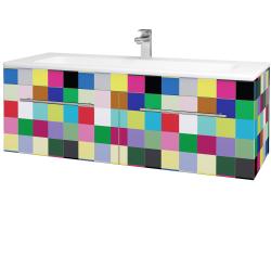 Dreja - Kúpeľňová skriňa ASTON SZZ2 120 - IND Individual / Úchytka T02 / IND Individual (149307B)