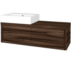 Dreja - Kúpeľňová skriňa STORM SZZ2 120 (umývadlo Kube) - D06 Ořech / D06 Ořech / Levé (169596)
