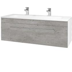 Dreja - Kúpeľňová skriňa ASTON SZZ 120 - N01 Bílá lesk / Úchytka T02 / D01 Beton (131098BU)